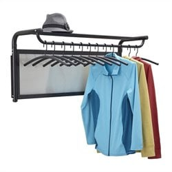 Coat Wall Rack with Hangers in Black