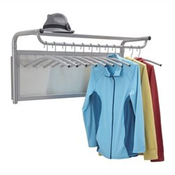Coat Wall Rack with Hangers in Gray