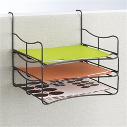Wire Panel Accessories Triple Tray in Black