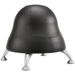 Ball Office Chair in Black Vinyl