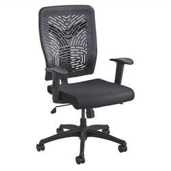 Task Office Chair Plastic Back in Black