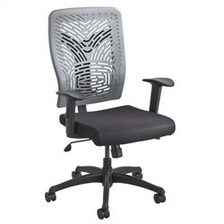 Task Office Chair Plastic Back in Charcoal