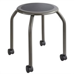 Trolley Stool in Pewter