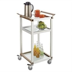 Small Refreshment Cart in Silver