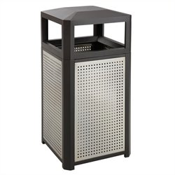 38 Gallon Steel Waste Receptacle