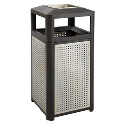 38 Gallon Steel Ash Waste Receptacle