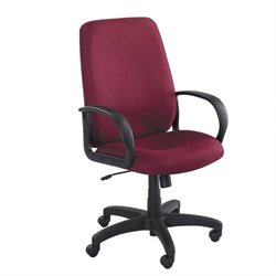 Burgundy Executive High-Back Office Chair