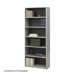 Standard 6 Shelf Economy Steel Bookcase in Gray