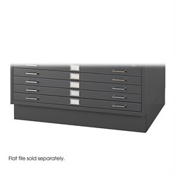 Closed Low Base for 4986 and 4996 Flat File Cabinets in Black