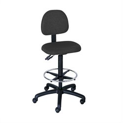 Extended Height Drafting Chair in Black