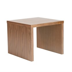 Eurostyle Abby Square End Table in American Walnut