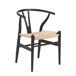 Eurostyle Evelina Dining Chair in Black (Set of 2)