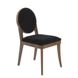 Eurostyle Hallie Dining Chair in Black (Set of 2)