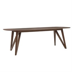 Eurostyle Sampson Dining Table in Walnut