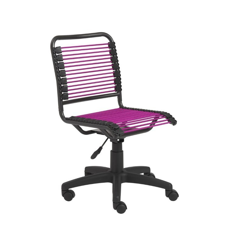 Eurostyle Bungie Low Back Office Chair in Pink