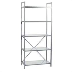 Eurostyle Maeko 5 Shelf Storage Unit in Aluminum