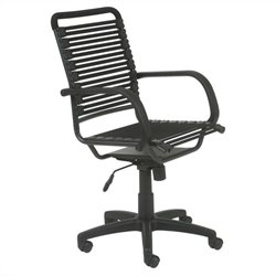 Eurostyle Bungie Flat High Back Office Chair in Black / Graphite Black