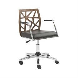 Eurostyle Sophia Office Chair in American Walnut