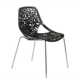 Eurostyle Lovie Stacking Dining Chair in Black