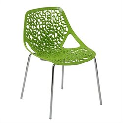 Eurostyle Lovie Stacking Dining Chair in Green