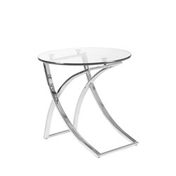 Eurostyle Talisa Round Side Table in Clear Glass