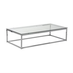 Eurostyle Sandor Rectangle Coffee Table in Clear Glass