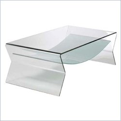 Eurostyle Giacomo Coffee Table in Clear Glass