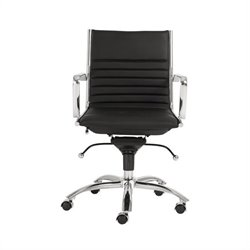 Eurostyle Dirk Low Back Office Chair in Black/Chrome