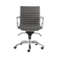 Eurostyle Dirk Low Back Office Chair in Gray/Chrome