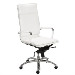 Eurostyle Gunar Pro High Back Office Chair in White/Chrome