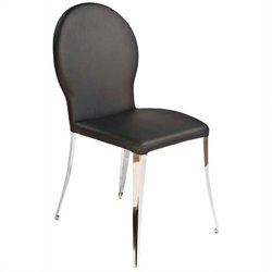 Eurostyle Farid  Dining Chair in Black/Chrome