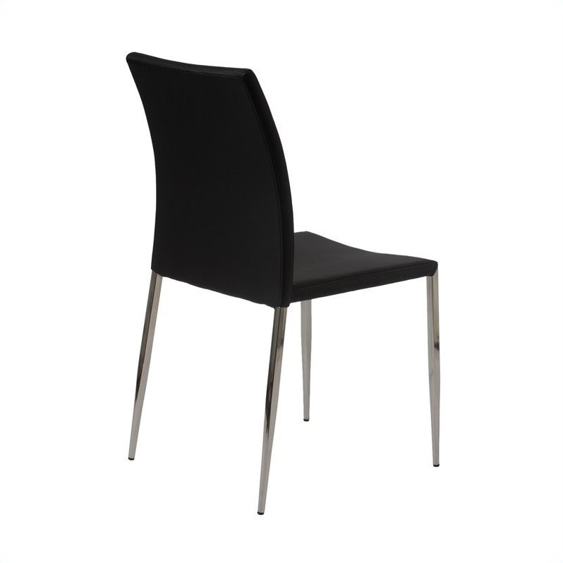 Eurostyle Diana  Dining Chair in Black/Stainless