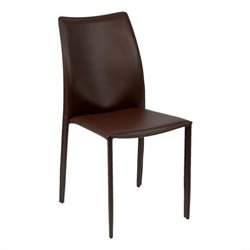 Eurostyle Dalia  Dining Chair in Brown Leather