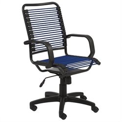 Eurostyle Bradley Bungie Office Chair in Blue/Graphite Black