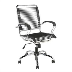 Eurostyle Bungie Flat J-Arm Office Chair in Black/Chrome