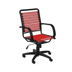 Eurostyle Bungie Flat High Back Office Chair in Red