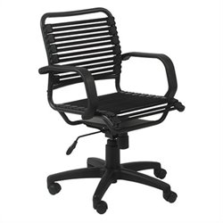 Eurostyle Bungie Flat Mid Back Office Chair in Black/Graphite
