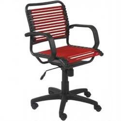 Eurostyle Bungie Flat Mid Back Office Chair in Red/Graphite