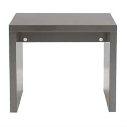 Eurostyle Abby Side Table in Gray Lacquer