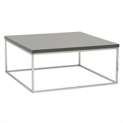 Eurostyle Teresa Square Coffee Table in Gray Lacquer