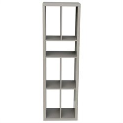 Eurostyle Ryn Shelving Unit in Gray Lacquer