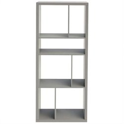 Eurostyle Reid Shelving Unit in Gray Lacquer