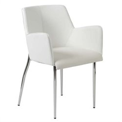 Eurostyle Sunny Arm Dining Chair in White/Chrome