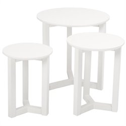 Eurostyle Nicolo Nesting Table in White