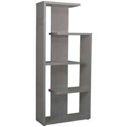 Eurostyle Robbie Shelving Unit in Gray Lacquer