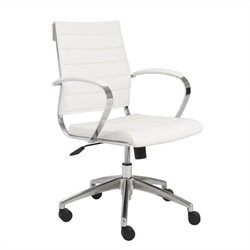 Eurostyle Axel Low Back Office Chair with Arms in White