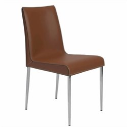 Eurostyle Cam  Dining Chair in Cognac