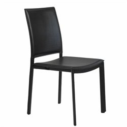 Eurostyle Kate  Dining Chair in Black Leatherette