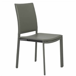 Eurostyle Kate  Dining Chair in Gray Leatherette