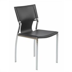 Eurostyle Vinnie  Dining Chair in Black Leather